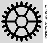 clock wheel vector icon. style... | Shutterstock .eps vector #502158295