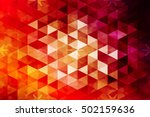 red  orange color. low poly... | Shutterstock .eps vector #502159636