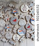christmas gingerbread decorated ...   Shutterstock . vector #502160152