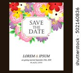 romantic invitation. wedding ... | Shutterstock . vector #502160836