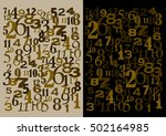 numbers time and math concept   Shutterstock .eps vector #502164985