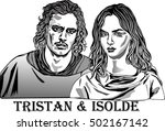 tristan and isolde is a tale...   Shutterstock .eps vector #502167142