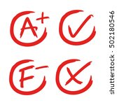 grade and tick | Shutterstock .eps vector #502180546