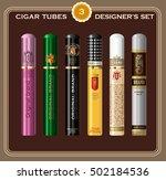 a set of cigar tube templates....   Shutterstock .eps vector #502184536