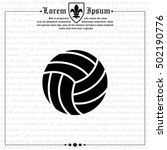 web icon. volleyball | Shutterstock .eps vector #502190776