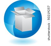 shipping box | Shutterstock .eps vector #50219257