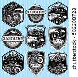 vector stylish set of badges... | Shutterstock .eps vector #502208728