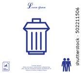 trashcan icon | Shutterstock .eps vector #502211506