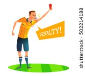 Cartoon Soccer Referee...