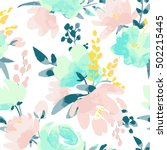 vector watercolour floral... | Shutterstock .eps vector #502215445