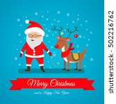 merry christmas and happy new... | Shutterstock .eps vector #502216762