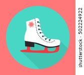 vector ice skate flat icon with ... | Shutterstock .eps vector #502224922