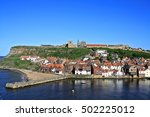 Whitby Harbor Perfect Blue Day