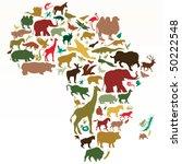 animals of africa | Shutterstock .eps vector #50222548