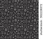 monoline vector seamless... | Shutterstock .eps vector #502228372