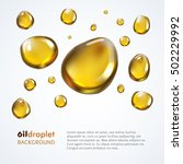 oily droplet vector background | Shutterstock .eps vector #502229992