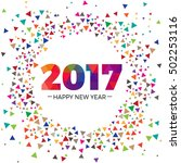 2017 happy new year text... | Shutterstock .eps vector #502253116