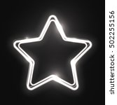 white abstract neon star shape. ... | Shutterstock .eps vector #502255156