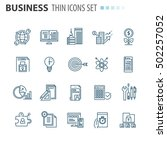 thin icons | Shutterstock .eps vector #502257052