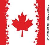 canadian flag made maple leaves ... | Shutterstock .eps vector #502268512