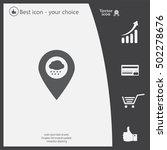 cloud rain icon map pin | Shutterstock .eps vector #502278676