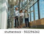business colleagues having a... | Shutterstock . vector #502296262