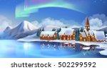 winter landscape. festive...   Shutterstock .eps vector #502299592