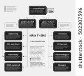 organization chart template...   Shutterstock .eps vector #502307596