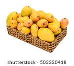 basket of mangoes on white... | Shutterstock . vector #502320418