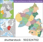 map of rhineland palatinate | Shutterstock .eps vector #502324702