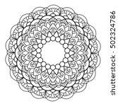 mandala. vintage decorative... | Shutterstock .eps vector #502324786