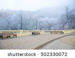 View Of Rime Covered Park With...