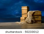 Wooden Crates Packed For Export ...