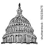 U. S. Capitol dome - stock vector