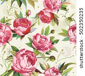 elegant seamless vector floral... | Shutterstock .eps vector #502350235