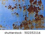 Texture Of Metal And Blue Paint
