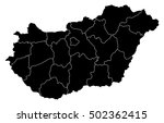 map   hungary | Shutterstock .eps vector #502362415