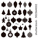 vector collection of christmas... | Shutterstock .eps vector #502364032