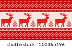 seamless knitting pattern with... | Shutterstock .eps vector #502365196