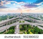 city interchange closeup   ... | Shutterstock . vector #502380022
