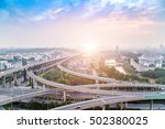 city interchange closeup   ... | Shutterstock . vector #502380025