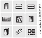 construction materials icons | Shutterstock .eps vector #502381198