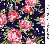 beautiful seamless pattern with ... | Shutterstock .eps vector #502382212