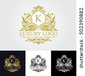 luxury logo | Shutterstock .eps vector #502390882