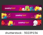 sale and shopping web banners   Shutterstock .eps vector #50239156
