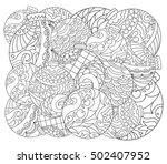 christmas tree ornament adult... | Shutterstock .eps vector #502407952