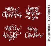 christmas set of quote...   Shutterstock .eps vector #502408966