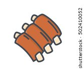 ribs icon food meat colored   Shutterstock .eps vector #502410052