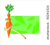 carrot with face with the... | Shutterstock .eps vector #50241523