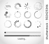 vector progress loading bar.... | Shutterstock .eps vector #502425346